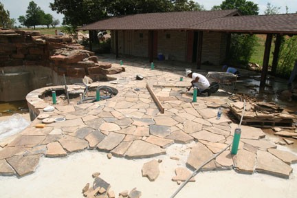 Laying Flagstone Patio Diy Images
