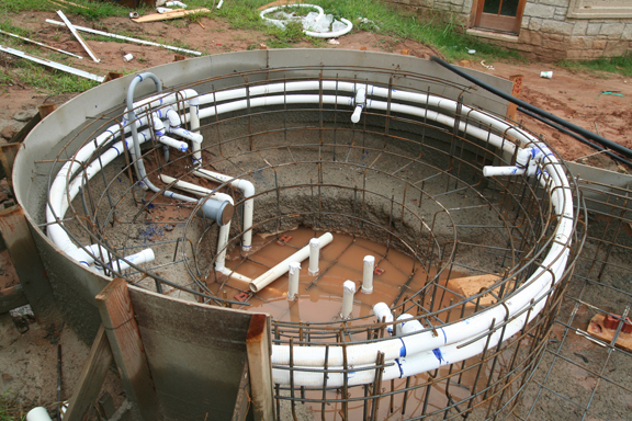 Swimming Pool Construction Diagram : See the difference in gunite spa construction as it varies