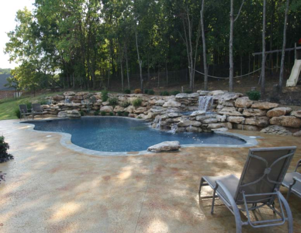 Boulders Around Pool Delectable Swimming Pool Water Line Tile And Other Choices.