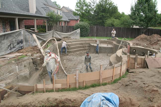 What are the phases of building an inground pool for In ground swimming pool contractors
