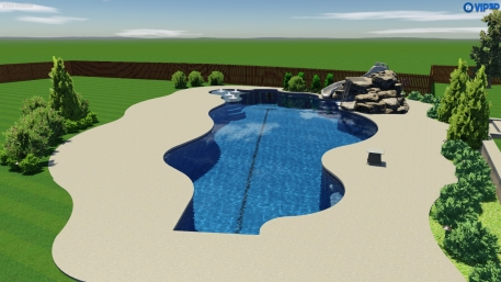 Pictures of a 75' long lap pool project currently underway in Tulsa.