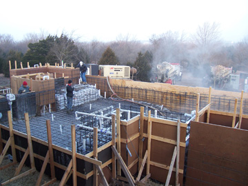 Gunite underway all plumbing and steel in place.